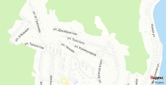 Улица Толстого в Белорецке с номерами домов на карте. Спутник и схема онлайн