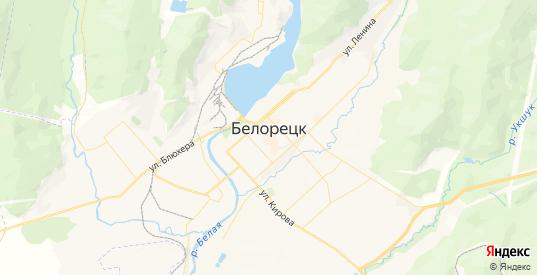 Карта Белорецка с улицами и домами подробная. Показать со спутника номера домов онлайн