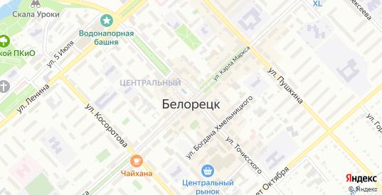 Зеленый бульвар в Белорецке с номерами домов на карте. Спутник и схема онлайн