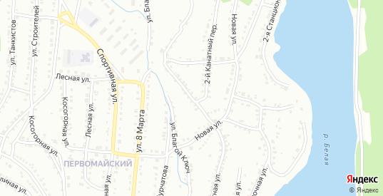 Канатная улица в Белорецке с номерами домов на карте. Спутник и схема онлайн