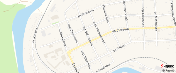 Переулок Бабушкина на карте Юрюзани с номерами домов
