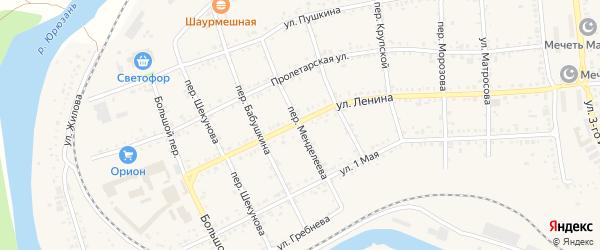 Переулок Менделеева на карте Юрюзани с номерами домов