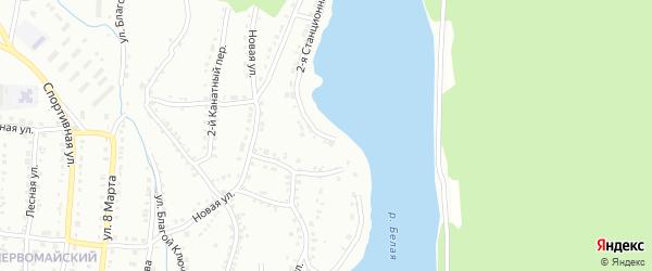 Станционная 2-я улица на карте Белорецка с номерами домов