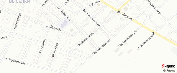 Рябиновая улица на карте Белорецка с номерами домов