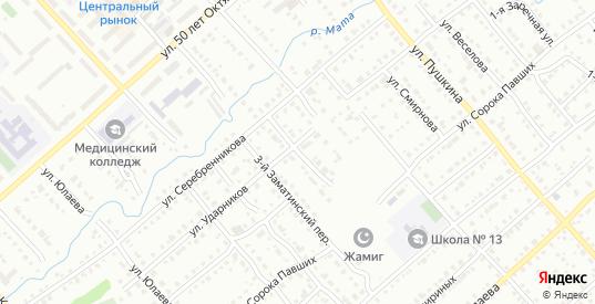 Заматинский 2-й переулок в Белорецке с номерами домов на карте. Спутник и схема онлайн