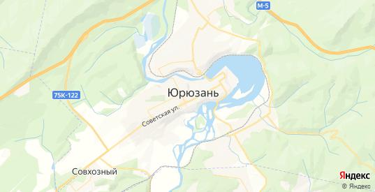 Карта Юрюзани с улицами и домами подробная. Показать со спутника номера домов онлайн