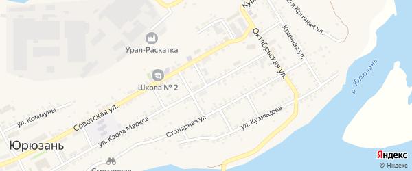 Переулок Фурманова на карте Юрюзани с номерами домов