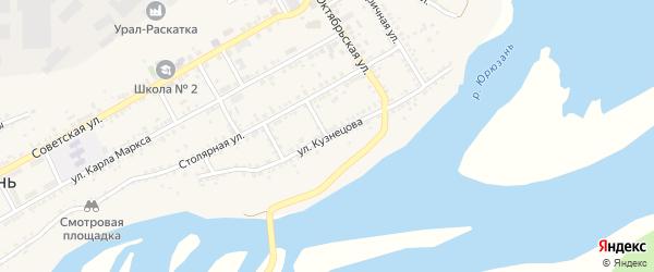 Улица Кузнецова на карте Юрюзани с номерами домов
