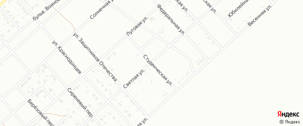 Студенческая улица на карте Белорецка с номерами домов