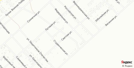 Светлая улица в Белорецке с номерами домов на карте. Спутник и схема онлайн