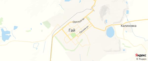 Карта Гая с районами, улицами и номерами домов