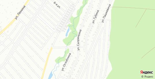 Улица Сызранкина в Белорецке с номерами домов на карте. Спутник и схема онлайн