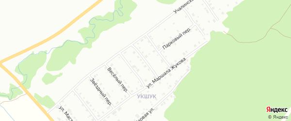 Цветочный переулок на карте Белорецка с номерами домов