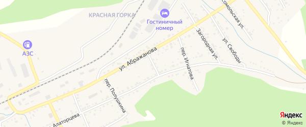Переулок Помелова на карте Юрюзани с номерами домов