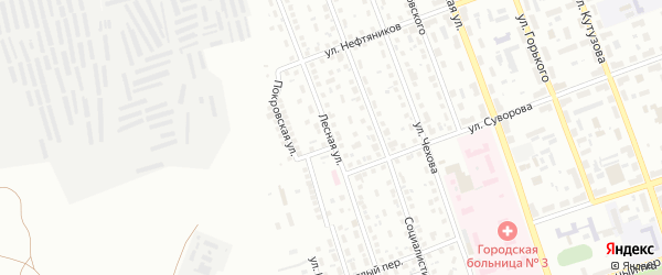 Лесная улица на карте Орска с номерами домов
