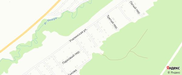 Первый переулок на карте Белорецка с номерами домов