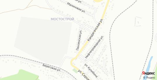 Пензенская улица в Орске с номерами домов на карте. Спутник и схема онлайн