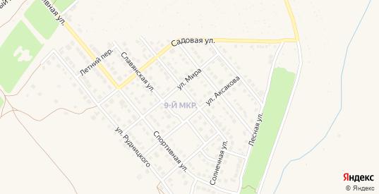 Солнечная улица в Гае с номерами домов на карте. Спутник и схема онлайн