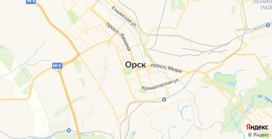 Карта Орска с улицами и домами подробная. Показать со спутника номера домов онлайн