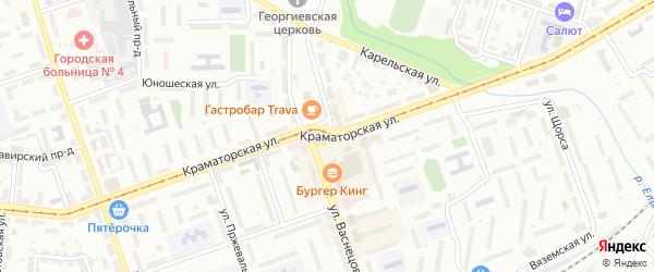 Площадь Васнецова на карте Орска с номерами домов