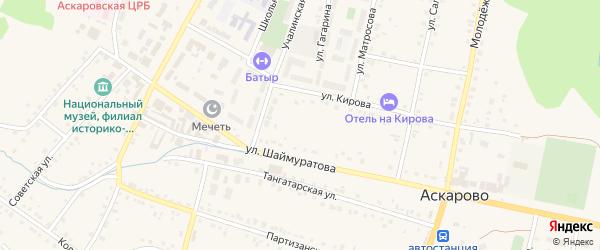 Улица Гинията Ушанова на карте села Аскарово с номерами домов