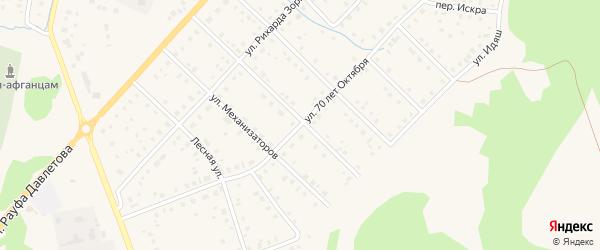 Улица 70 лет Октября на карте села Аскарово с номерами домов
