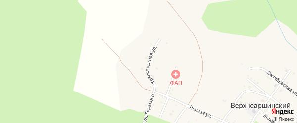 Транспортная улица на карте села Верхнеаршинского с номерами домов