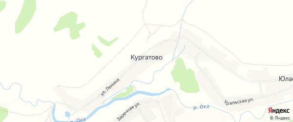 Карта деревни Кургатово в Башкортостане с улицами и номерами домов