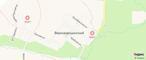 Школьный переулок на карте села Верхнеаршинского с номерами домов
