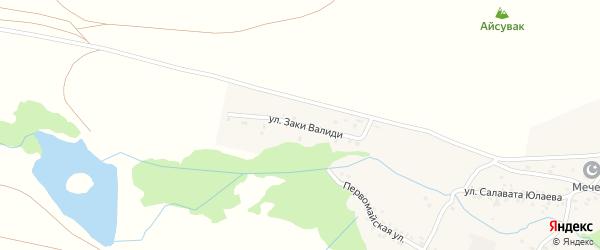 Улица З.Валиди на карте села Старого Сибая Башкортостана с номерами домов