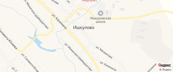 Улица Матросова на карте села Ишкулово с номерами домов