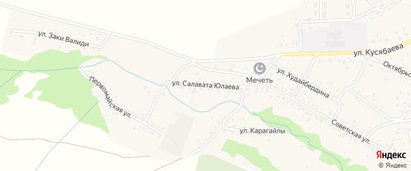 Улица С.Юлаева на карте села Старого Сибая Башкортостана с номерами домов