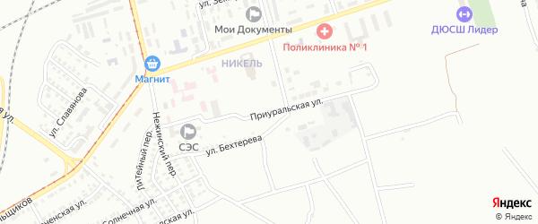 Приуральская улица на карте Орска с номерами домов