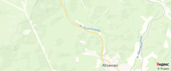 Карта Абзаковского сельсовета Республики Башкортостана с районами, улицами и номерами домов