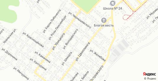Улица Желябова в Орске с номерами домов на карте. Спутник и схема онлайн