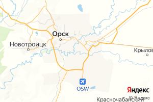 Карта г. Орск Оренбургская область