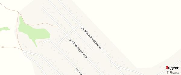 Улица М.Муртазина на карте села Старого Сибая Башкортостана с номерами домов