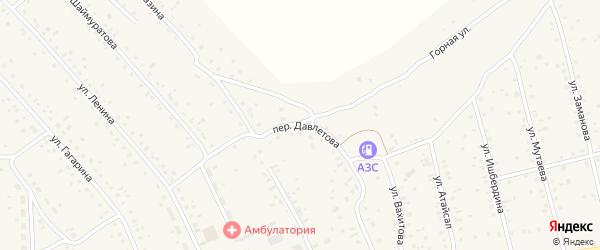 Переулок Давлетова на карте села Старого Сибая Башкортостана с номерами домов