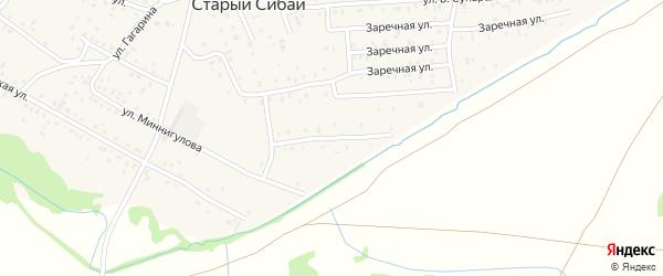 Улица Биктимира кантона на карте села Старого Сибая Башкортостана с номерами домов