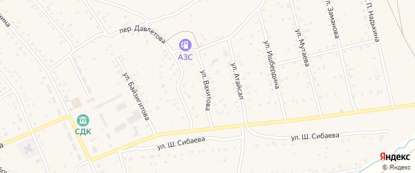 Улица Вахитова на карте села Старого Сибая Башкортостана с номерами домов