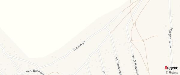 Горная улица на карте села Старого Сибая Башкортостана с номерами домов