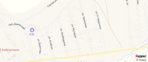 Улица Мутаева на карте села Старого Сибая Башкортостана с номерами домов