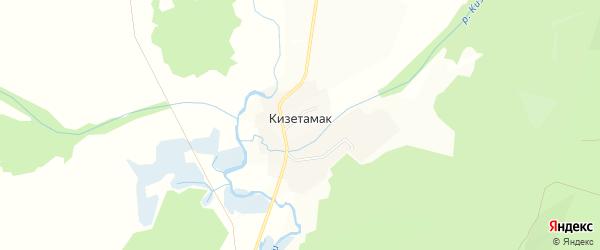 Карта деревни Кизетамака в Башкортостане с улицами и номерами домов