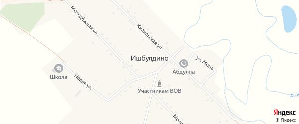 Молодежная улица на карте деревни Ишбулдино с номерами домов