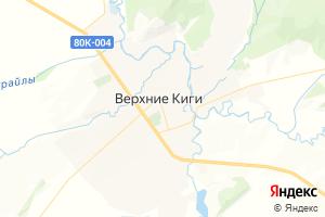 Карта с. Верхние Киги Республика Башкортостан