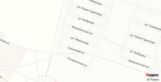 Улица Малихова в Сибае с номерами домов на карте. Спутник и схема онлайн