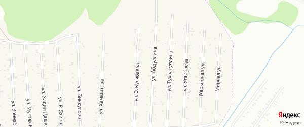 Улица Б.Абдуллина на карте села Старого Сибая Башкортостана с номерами домов