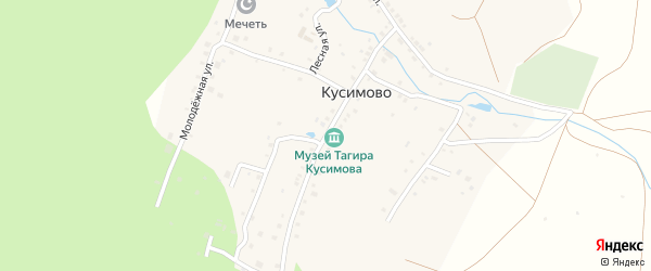 Улица Тагира Кусимова на карте деревни Геологоразведки с номерами домов