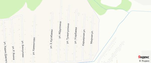 Карьерная улица на карте села Старого Сибая Башкортостана с номерами домов