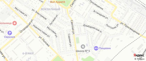 Светлая улица на карте Орска с номерами домов